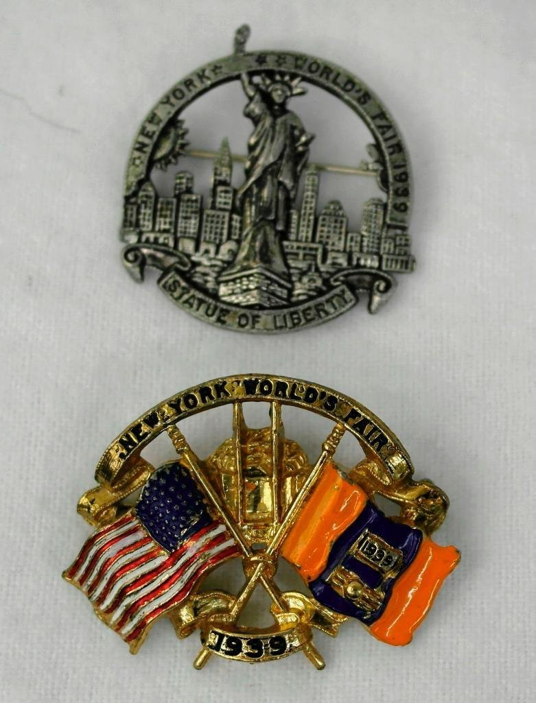 2 New York World's Fair Pins