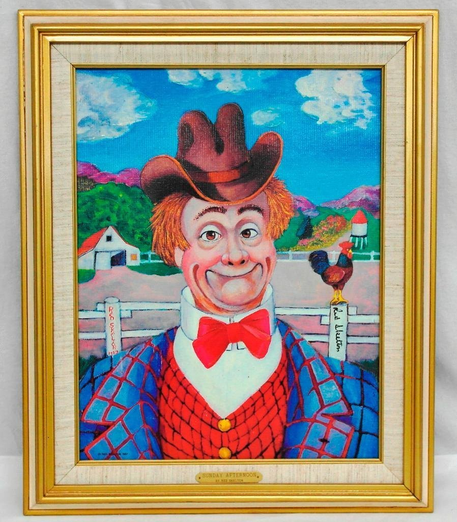 Red Skelton Lithograph - Sunday Afternoon - 2