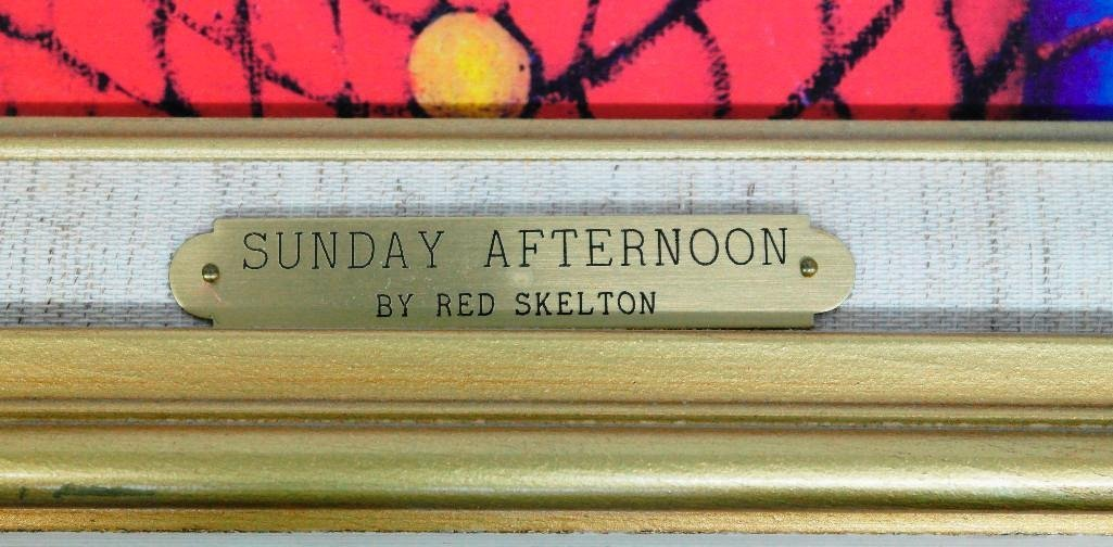 Red Skelton Lithograph - Sunday Afternoon - 5