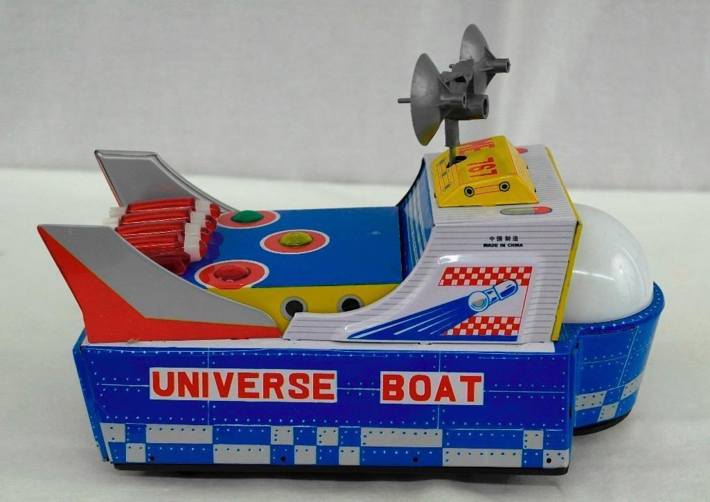"Vintage Tin Litho Toy ""Universe Boat"" - 2"