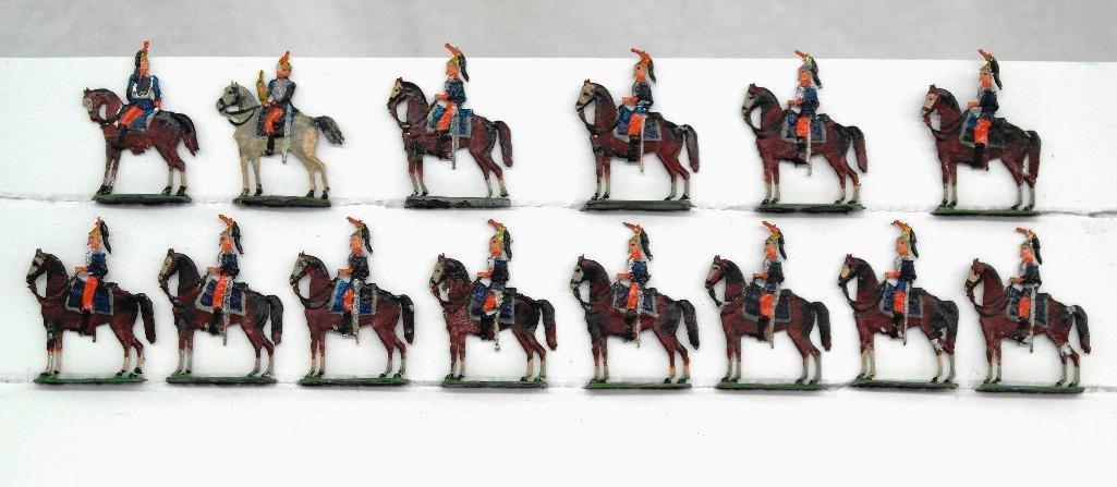 Set of 14 Heinrischen Mounted Soldiers