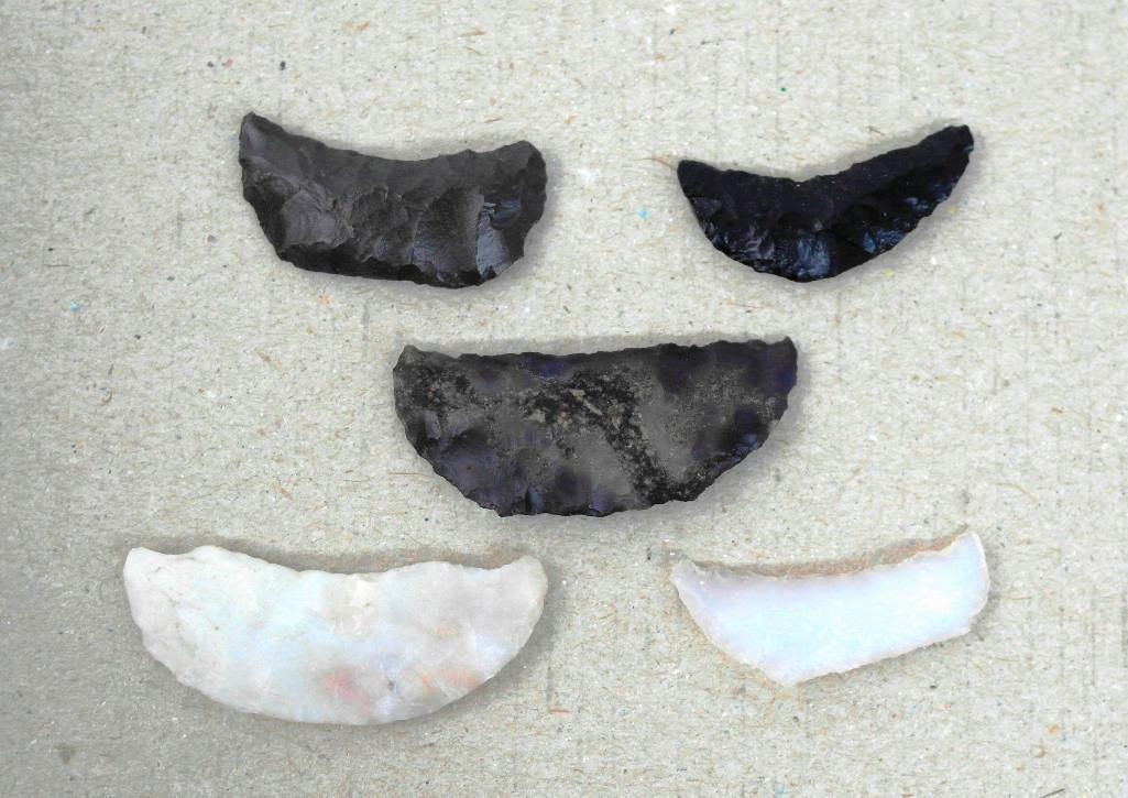 5 Paleo Crescents From Alvord Desert