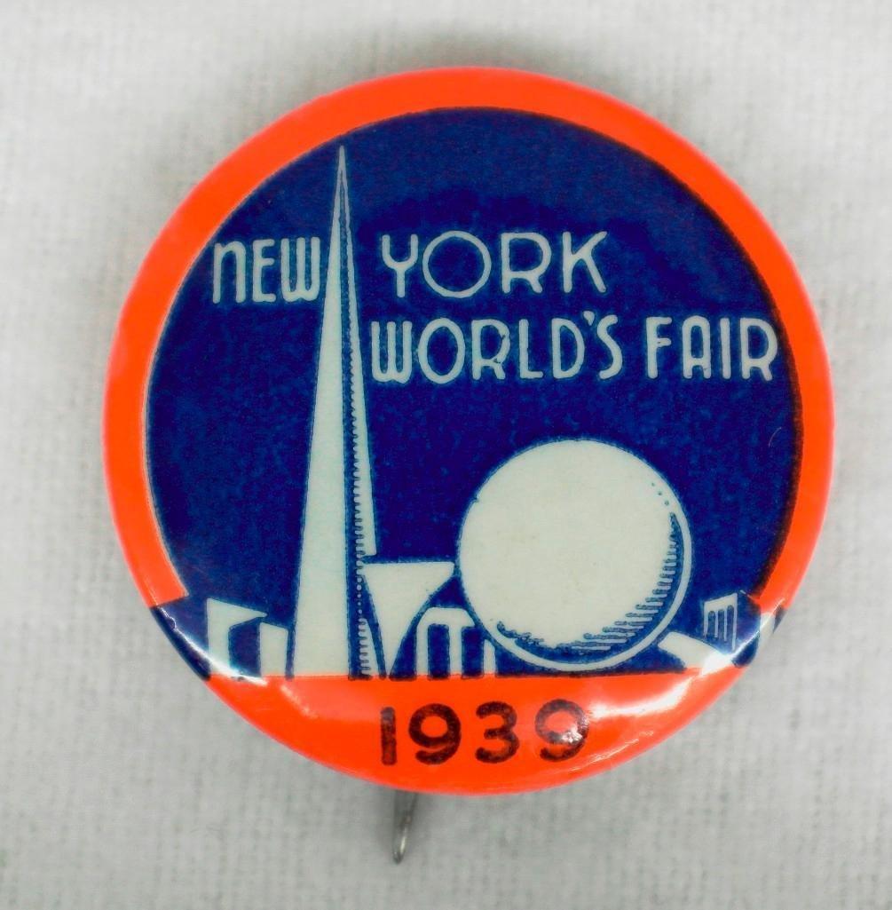 3 New York World's Fair Celluloid Pinbacks - 3