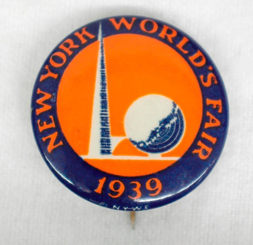 3 New York World's Fair Celluloid Pinbacks - 5