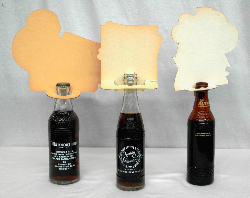 3 Different Root Beer Botles With Toppers - 2