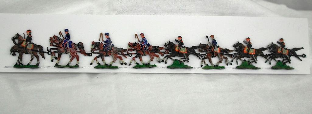 Set Of 8 Heinrischen Two Horse Artillery Teams
