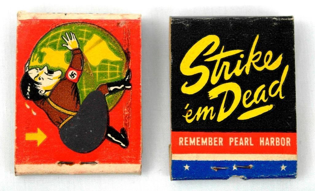 2 Full Feature WWII Matchbooks