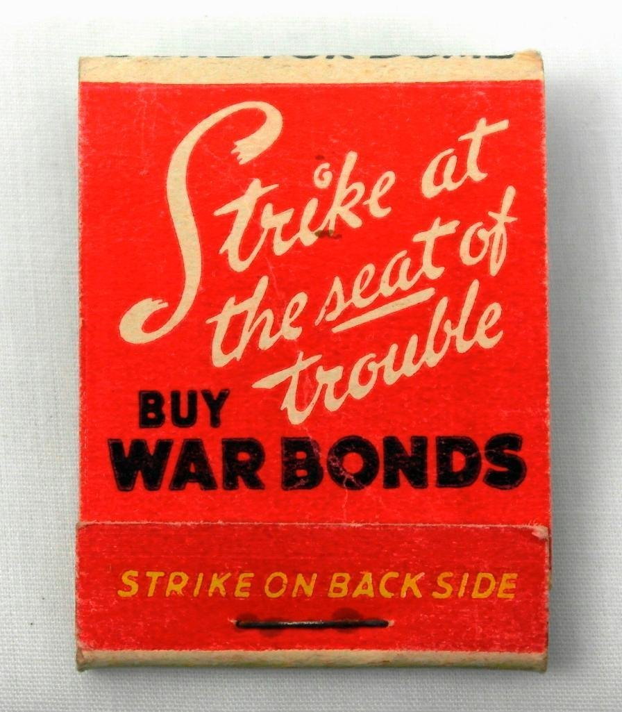 2 Full Feature WWII Matchbooks - 3