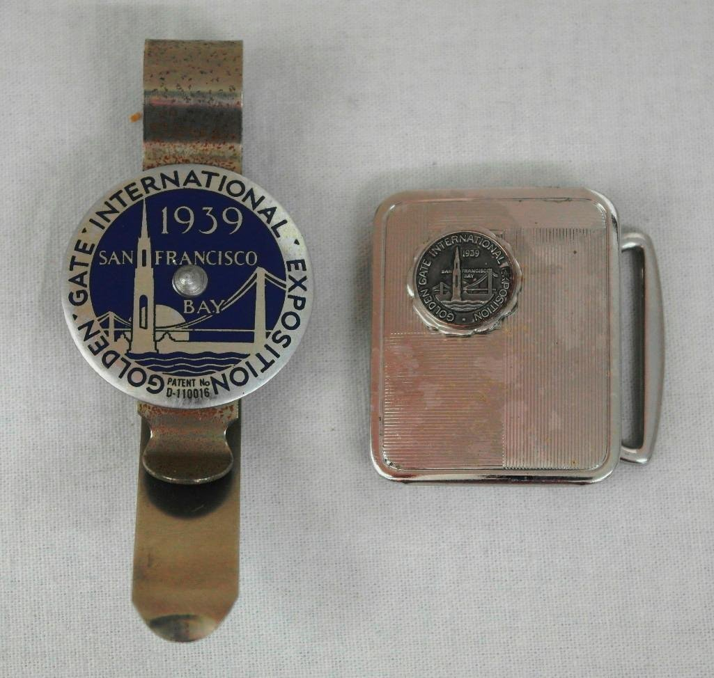 2 1939 Golden Gate Expo Souvenir Items