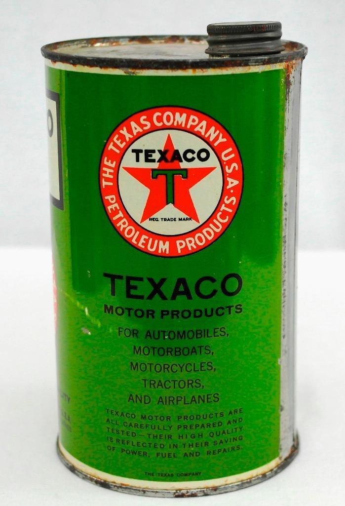 Texaco 1 Quart OIl Can - 2