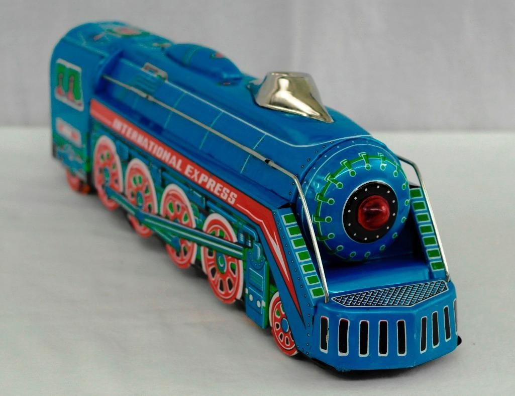 2 Tin litho Toys - International Express Locomotive And - 3