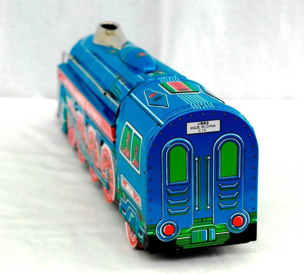 2 Tin litho Toys - International Express Locomotive And - 5