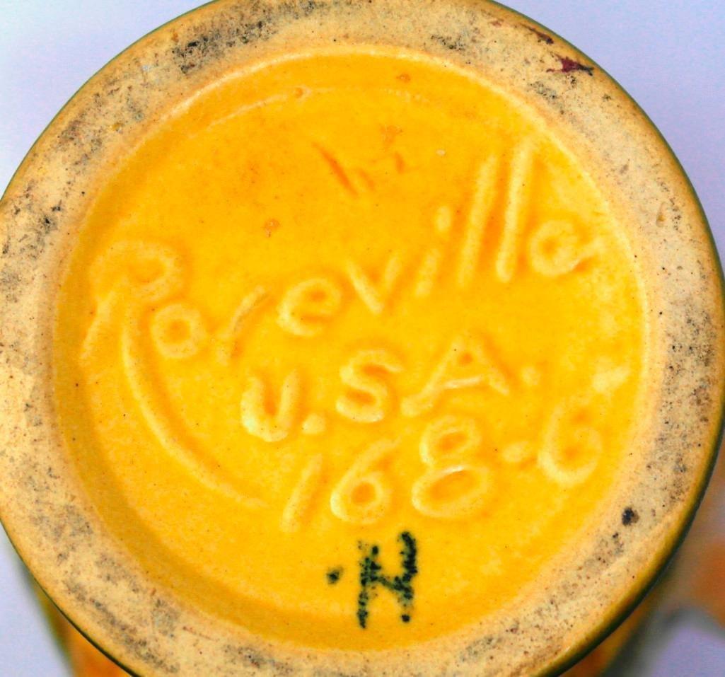Roseville Peony Double Handle Vase - 5