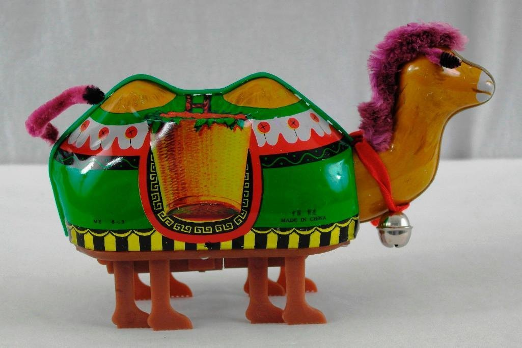 2 Tin Litho Toys - Two-Humped Camel And A 'Push And Go - 2