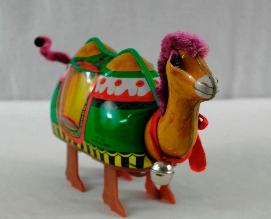 2 Tin Litho Toys - Two-Humped Camel And A 'Push And Go - 3