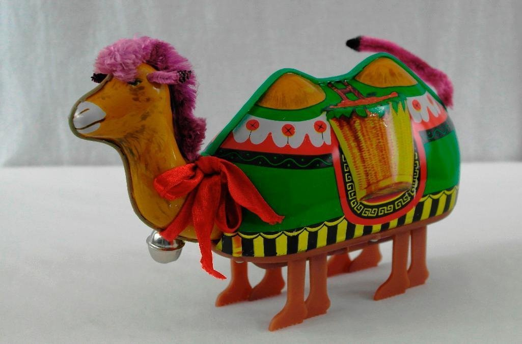 2 Tin Litho Toys - Two-Humped Camel And A 'Push And Go - 4