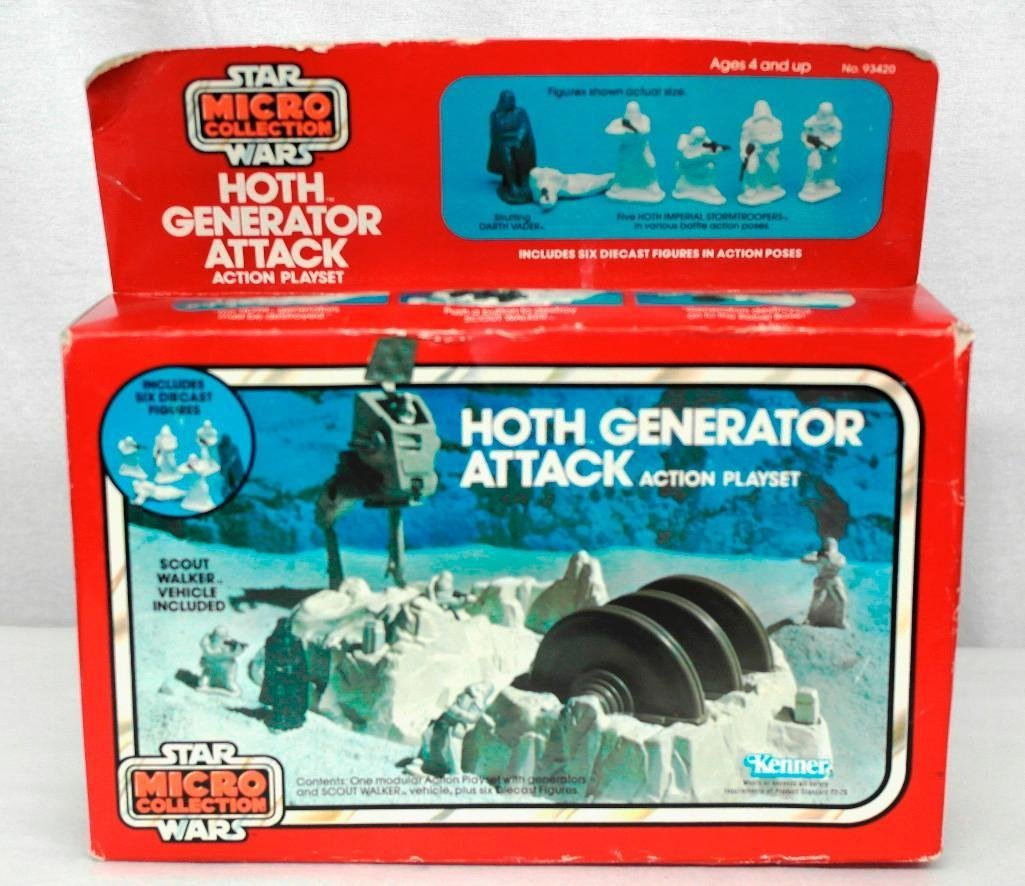 Vintage Star Wars Kenner Mico Collection Playset Hoth - 5