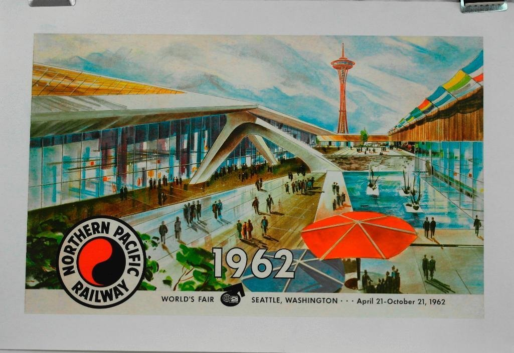 Northern Pacific Railroad Poster Featuring Seattle
