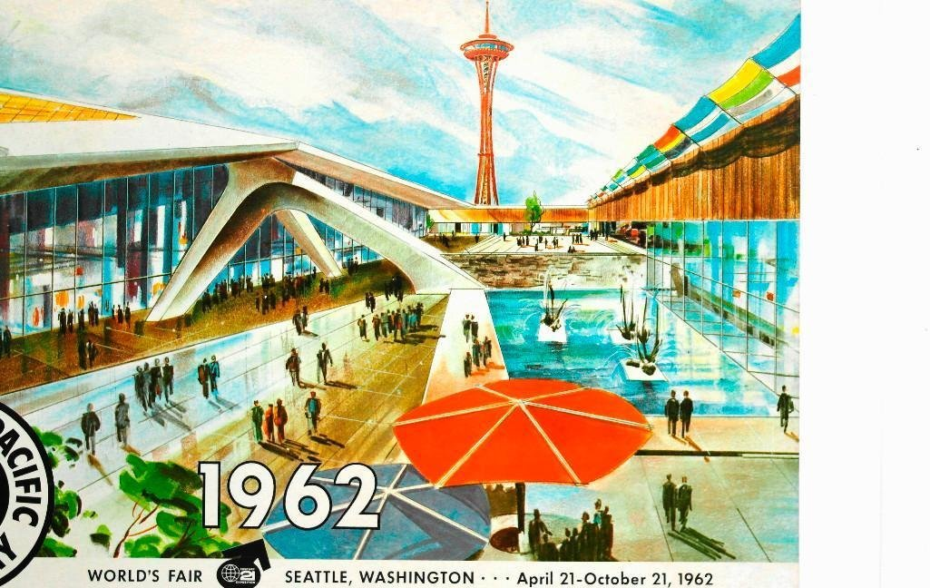 Northern Pacific Railroad Poster Featuring Seattle - 2