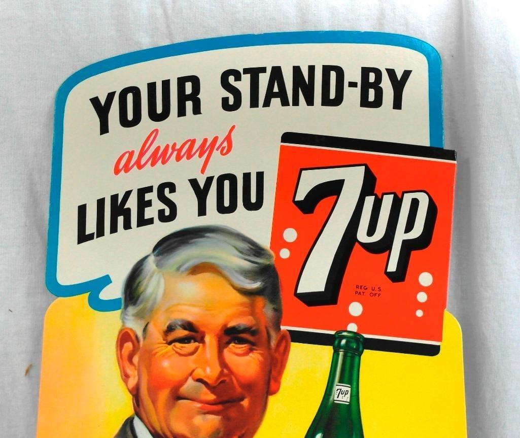 Unused 7-Up Easel Back Sign - 2