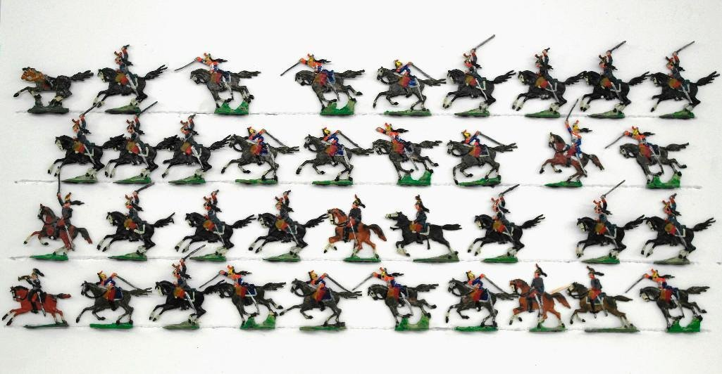 Set of 37 Heinrischen French Mounted Calvary Soldiers