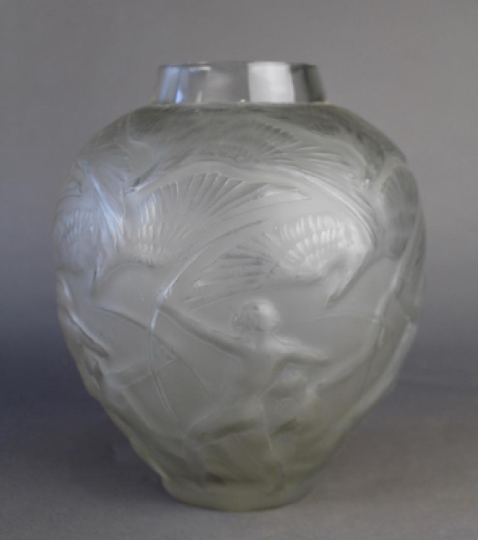 """Rene Lalique, """"Archers"""" Vase"""