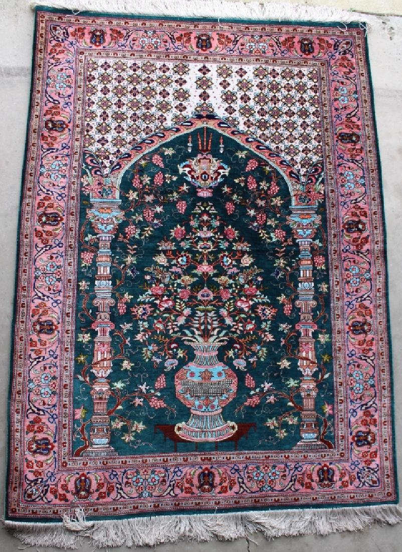 "Silk Prayer Rug 40"" x 61"""