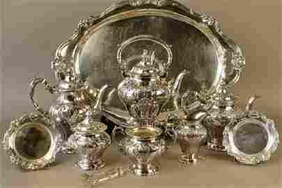 "Gorham ""Chantilly Duchess"" Sterling Tea Set"