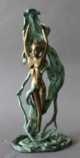 "Louis Icart, (after),  Bronze ""Fountain"""