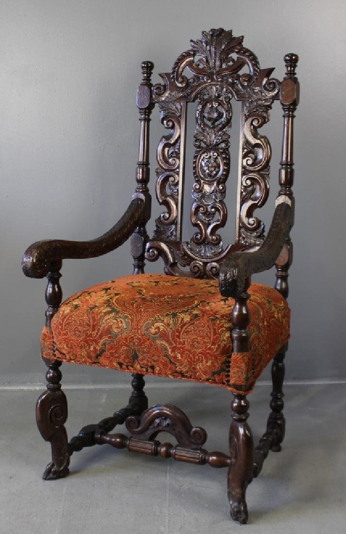 Back Carved Throne Chair