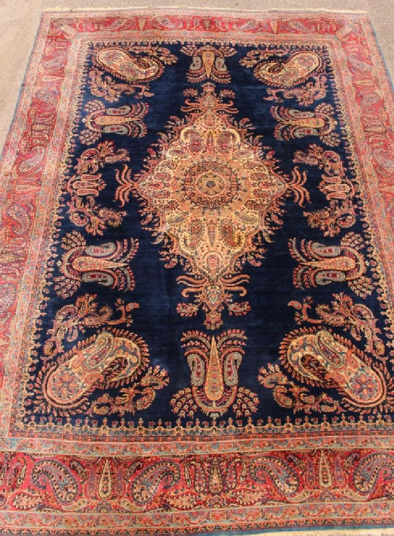 Semi-Antique Kerman Rug 13.9' x 9.9'