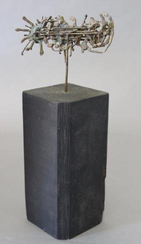 Lowell Lotspeich, Bronze Abstract Sculpture