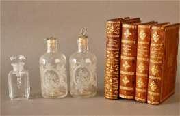 Baccarat Perfume Leather Books Cordial Set