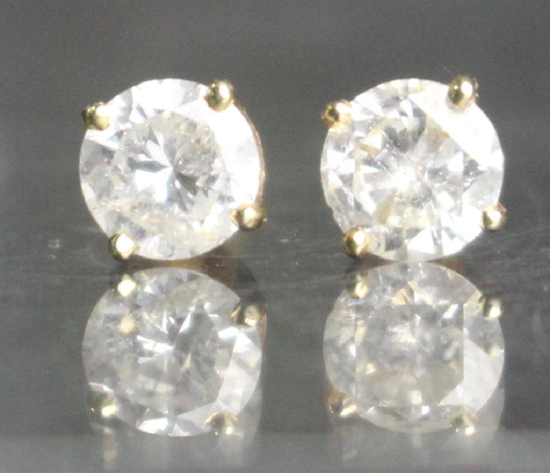 Pair of Diamond Stud Earrings
