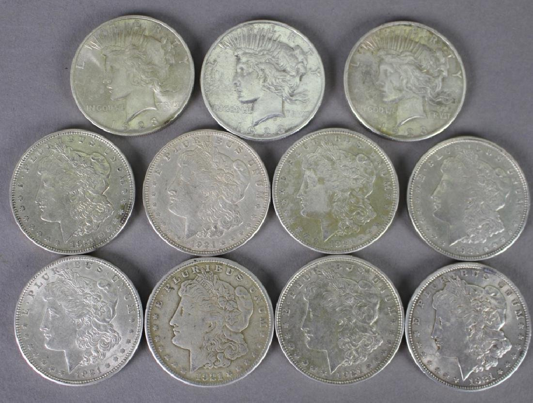 Group of Eleven U.S. Silver Dollars