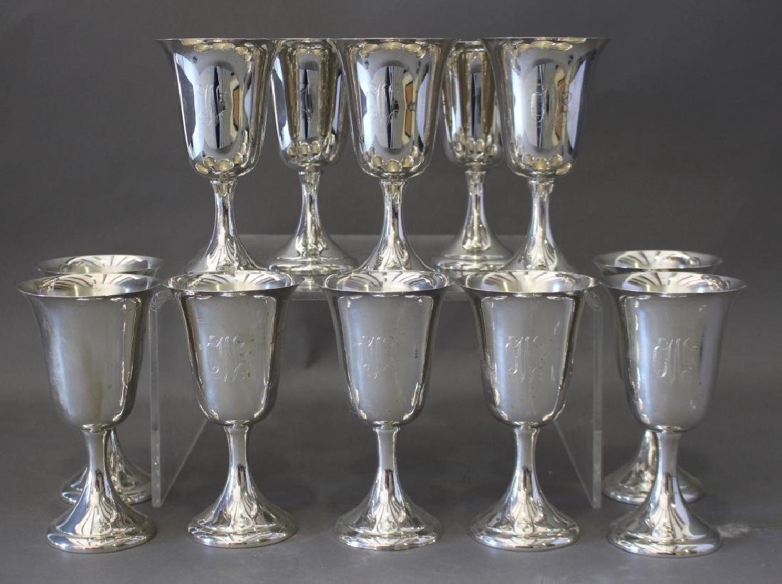 12 Sterling Silver Goblets