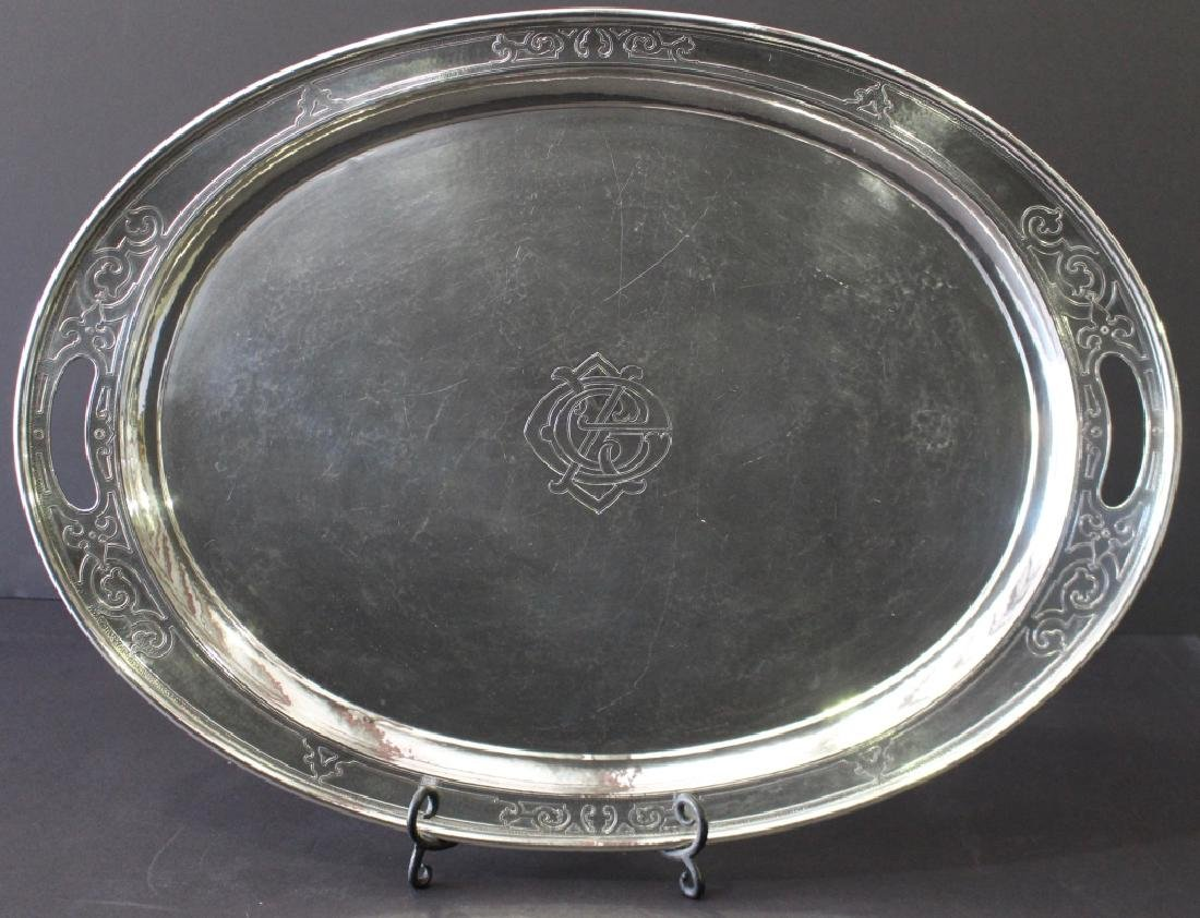 Gorham Hand Hammered Sterling Tray