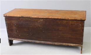 Country Primitive 6Board Pine Chest