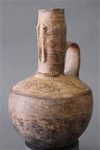 PreColumbian Water Jug with Handle