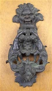North Wind Cast Iron Door Knocker