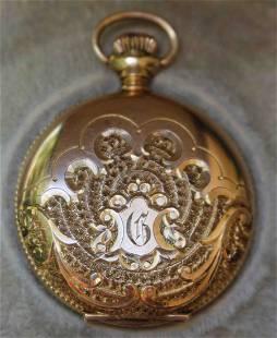 14K Gold Ladys Elgin Pocket Watch
