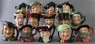 Group of 14 Large Royal Doulton Toby Mugs