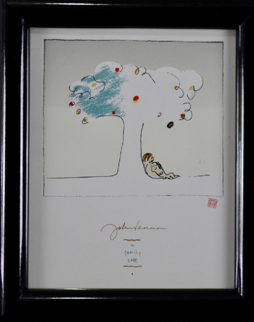 John Lennon and Yoko Ono Print