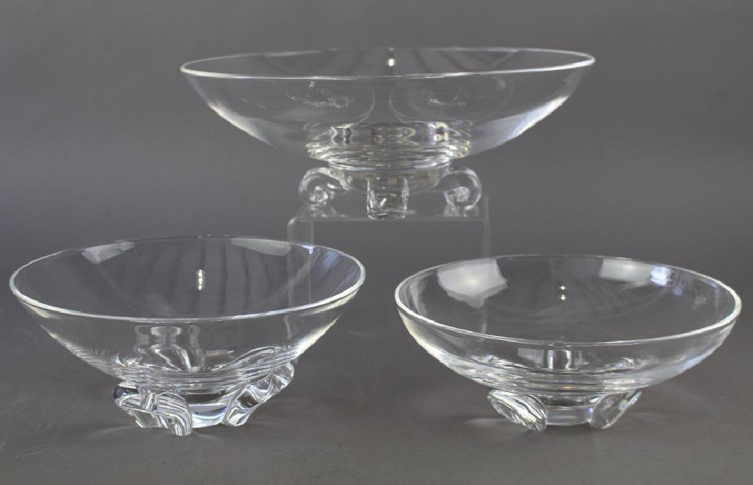 Group of Three Steuben Crystal Bowls