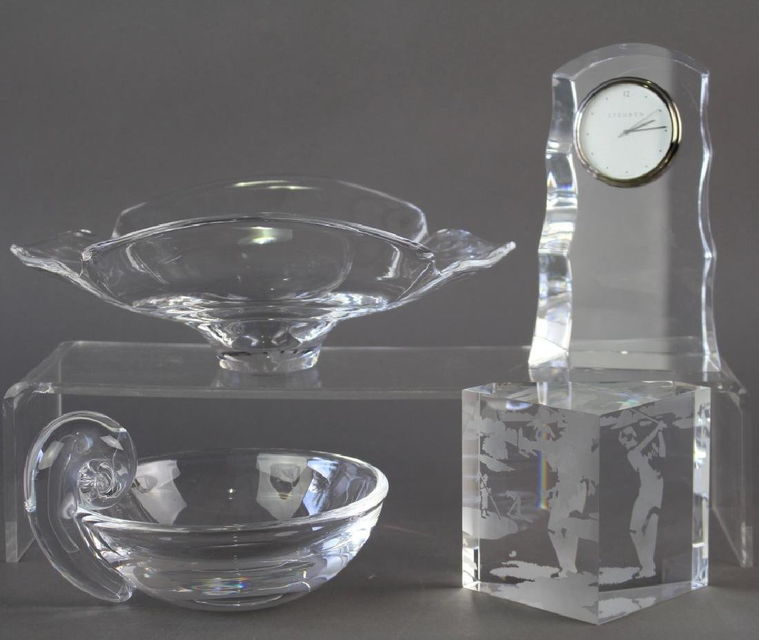 Four Piece Group Steuben Crystal