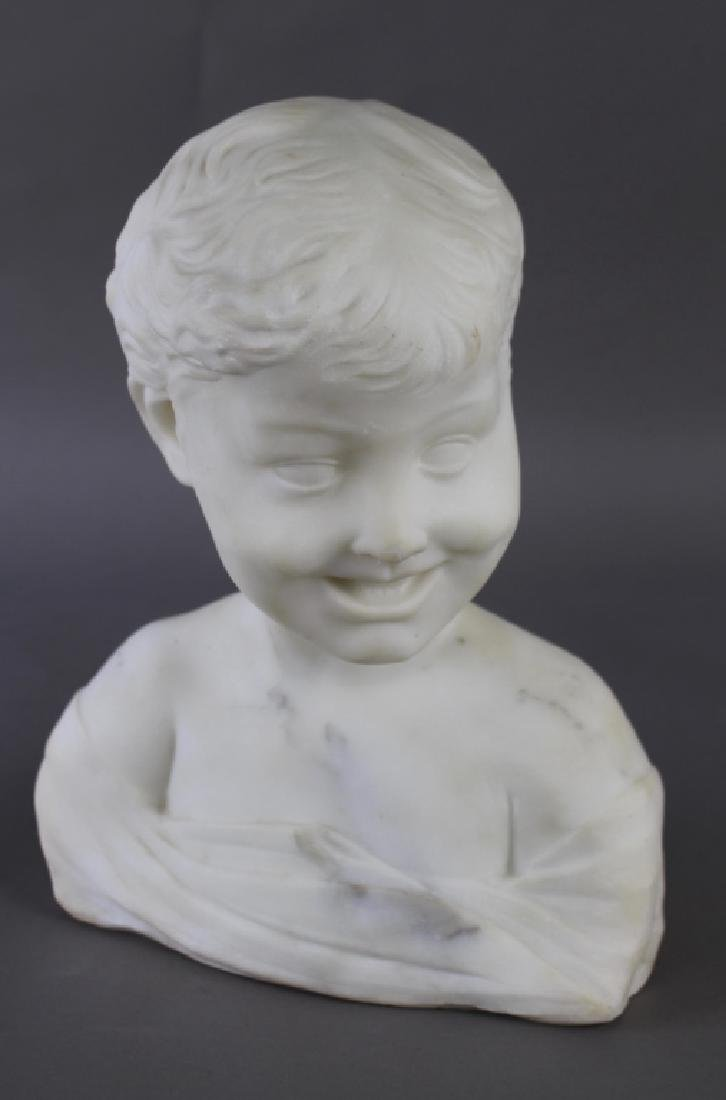 Marble Bust of Laughing Boy