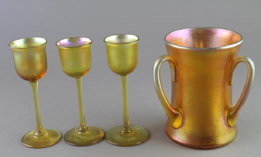 L.C. Tiffany Favrile Glass Group