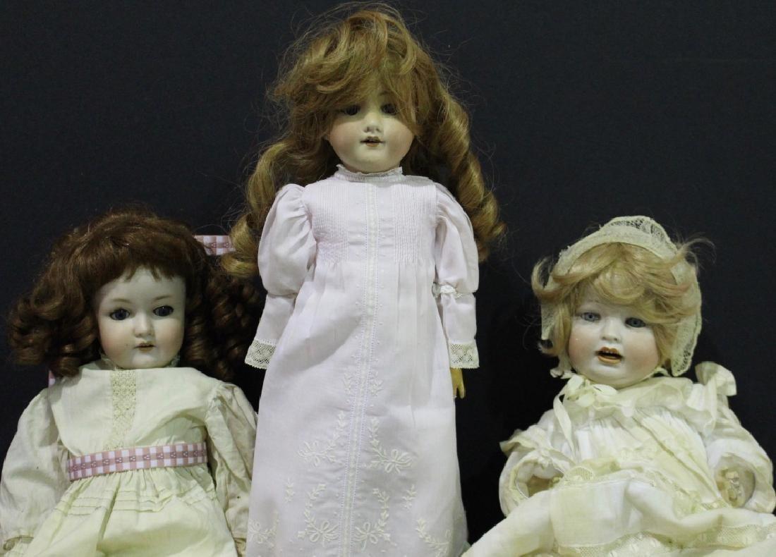 3 Bisque Head Dolls