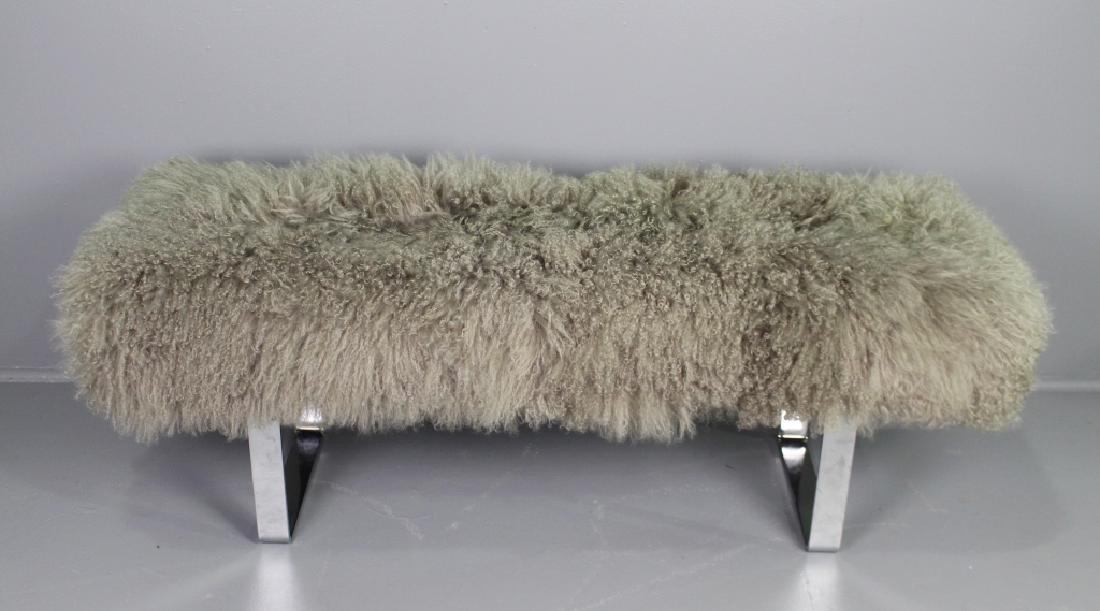 Mid-Century Modern Funky Fuzzy Bench