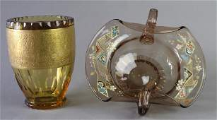 Two Pieces Moser Glass